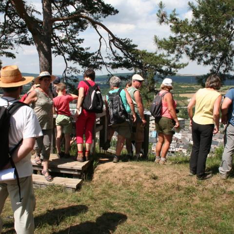 Sentier du mont d'Haurs : point de vue sur le paysage