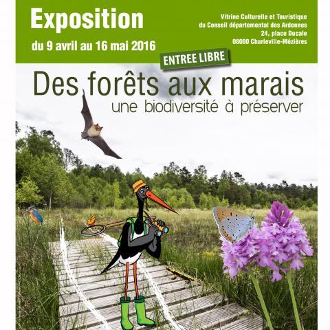 Exposition ''Des forêts au marais, une biodiversité à préserver''