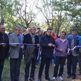 Inauguration sentier Sézane et Vindey